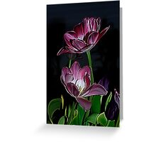 Purple tulips.... Greeting Card