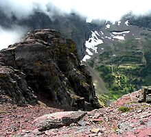 Glacier National Park, Montana, USA  - View West from Mount Oberlin by Dave Martsolf