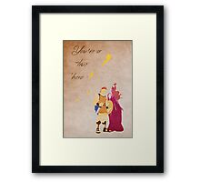 Hercules inspired Mother's Day design. Framed Print