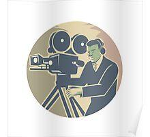 Cameraman Moviemaker Vintage Camera Retro Poster