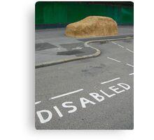 Disabled Parking Canvas Print