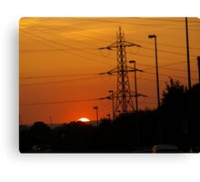Sunrise In Suburbia Canvas Print