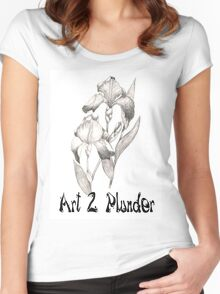 Art 2 Plunder Logo 2 Women's Fitted Scoop T-Shirt