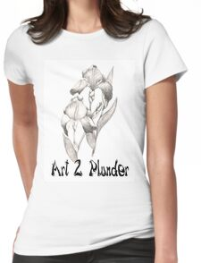 Art 2 Plunder Logo 2 Womens Fitted T-Shirt