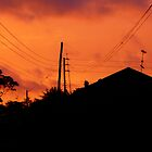 Kenya village sunset by benstrong