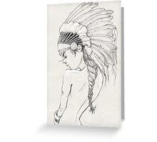 Head Girl Greeting Card