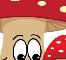 Happy mushrooms Sticker