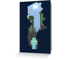 Minecraft Cave Greeting Card