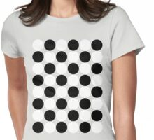 Polka Dots Womens Fitted T-Shirt