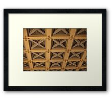 ancient ceiling with caissons Framed Print