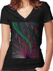 Thistle T-Shirt 2 Women's Fitted V-Neck T-Shirt