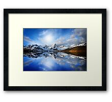 Touch the sky Framed Print
