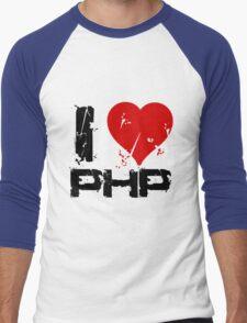 I Love PHP Men's Baseball ¾ T-Shirt