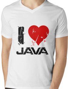 I Love Java Mens V-Neck T-Shirt
