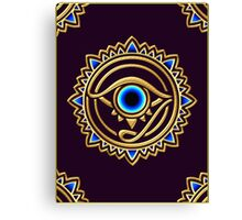 Nazar - protection amulet - eye of providence - all seeing eye, Horus Canvas Print