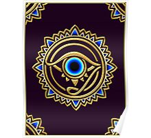 Nazar - protection amulet - eye of providence - all seeing eye, Horus Poster