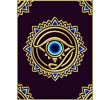 Nazar - protection amulet - eye of providence - all seeing eye, Horus Photographic Print