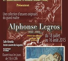 Affiche design -EXPOSITION ALPHONSE LEGROS -FRANCE- by Andre  Furlan