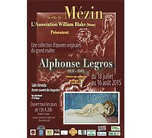 Affiche design -EXPOSITION ALPHONSE LEGROS -FRANCE- Photographic Print