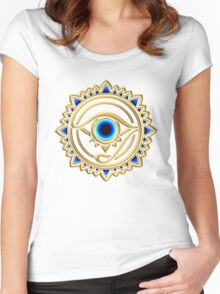 Nazar - protection amulet - eye of providence - all seeing eye, Horus Women's Fitted Scoop T-Shirt