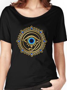 Nazar - protection amulet - eye of providence - all seeing eye, Horus Women's Relaxed Fit T-Shirt