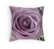 Marbled Mauve Rose Throw Pillow