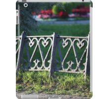 ancient fence city park iPad Case/Skin