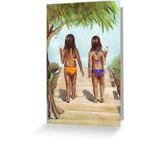 Girls of Summer Greeting Card