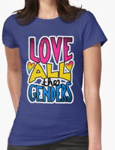 Love All The Genders Pansexual Pride Statement T-Shirt