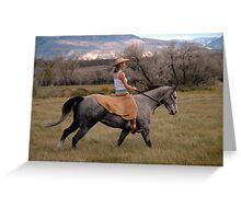 Galloping Greeting Card
