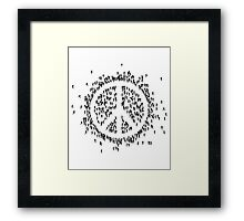 all we are saying.... is give peace a chance.... Framed Print
