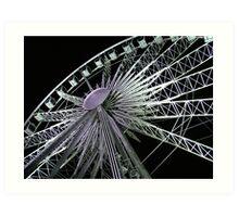 Ferris Wheel Lights Art Print