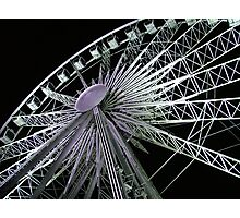 Ferris Wheel Lights Photographic Print