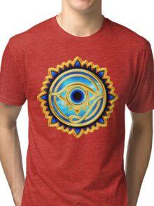 EYE OF HORUS - Eye of Providence - All Seeing Eye, Nazar Tri-blend T-Shirt