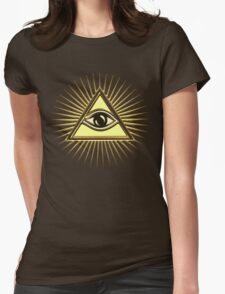 Eye Of Providence - All Seeing Eye Of God - Symbol Omniscience Womens Fitted T-Shirt