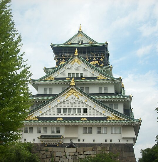 Osaka Castle by lilac-hime