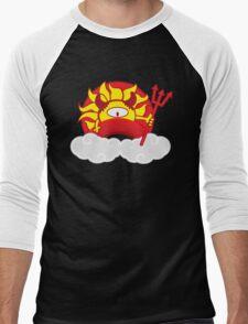 Devils Sun Darkness in Red Rainbow Men's Baseball ¾ T-Shirt