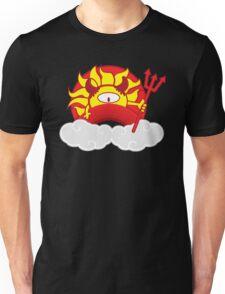 Devils Sun Darkness in Red Rainbow Unisex T-Shirt