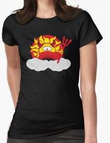 Devils Sun Darkness in Red Rainbow Womens Fitted T-Shirt