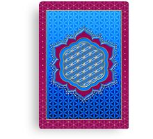 Flower of life, sacred geometry, Metatrons cube, symbol healing & balance   Canvas Print
