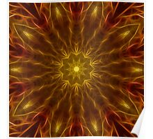 Golden Star Kaleidoscope 161 Poster