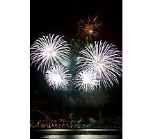 Consider The Lily - Sydney Harbour - New Years Eve - Midnight Fireworks Photographic Print