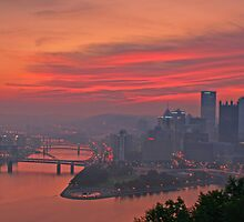 Allegheny River, City of Bridges by Paul Kavsak