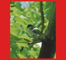 Cute baby bird on branch One Piece - Short Sleeve