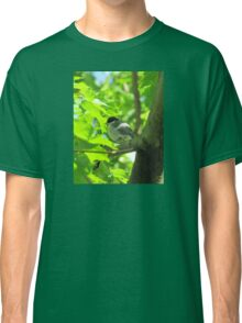 Cute baby bird on branch Classic T-Shirt