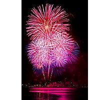 Blossom Bursts - Sydney Harbour - New Years Eve - Midnight Fireworks  Photographic Print