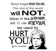 Tyrion Lannister Quote by livinginamovie