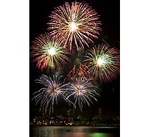 High Five - Sydney Harbour - New Years Eve - Midnight Fireworks  Photographic Print