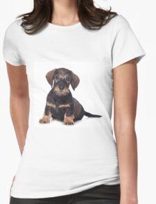 Cute Puppy dachshund Womens Fitted T-Shirt