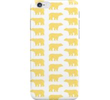 Gold Bears - foil glitter sparkle gold pattern print bear golf golfing nature trendy hipster sports iPhone Case/Skin